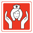 Nurse sign vector