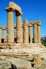 Temple of Juno Lacinia in the Valley Of Temples in Agrigento