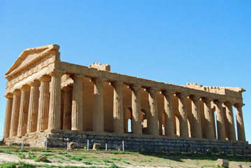 Temple of Concordia, Valley of Temples in Agrigento, Sicily
