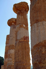 Detail of the Heracles Temple, Valley of Temples, Agrigento