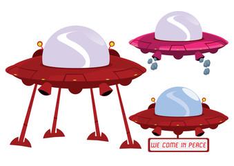 UFO Illustration in Vector