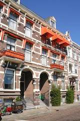 Homes in expensive neighborhood in The Hague, Holland