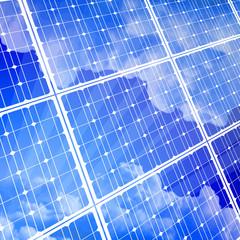 solar power panel & blue sky