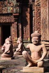 Sculpture on the Cambodia old temple, Siem Reap, Cambodia