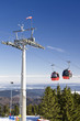 Ski gondola in Polish mountains.