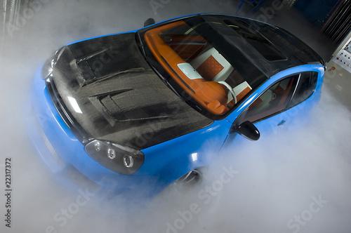 Foto op Canvas Snelle auto s car fog