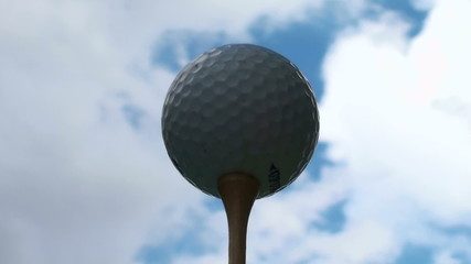 Golf ball against cloud time lapse - HD