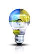 kreatives Design von erneuerbaren Energien