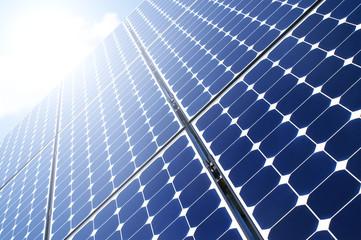 Solarpanel im Sonnenlicht
