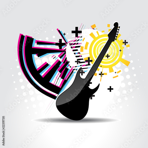 Abstract guitar art
