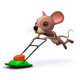 3d Hover mower mouse out of control poster