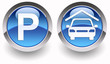 ''Parking/garage'' glossy icons