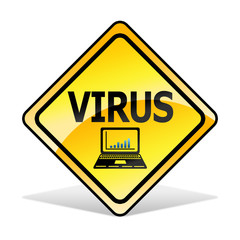 Virus warning icon