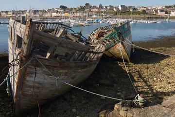 relitti sulla spiaggia di Camaret Sur Mer, Bretagna