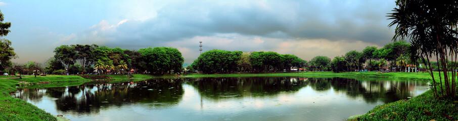 Lake panorama view
