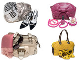 Ñollage from feminine bags, loafers and accessory poster