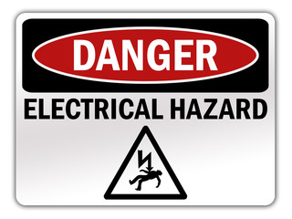 "Safety Sign ""Danger - Electrical Hazard"""