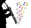 Musiker mit Klarinette