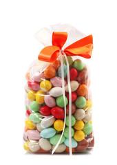 sacchetto di confetti colorati