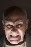 Senior  desperate and lunatic man poster