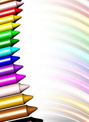 Pastelli Colori Sfondo-Colors Pencils Background-1