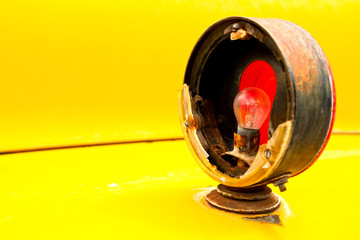 Classic broken bus signal light