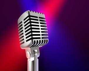 Mikrofon mit Spots