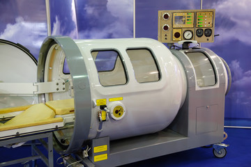 The medical equipment, pressure chamber.