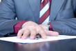 Signing hand