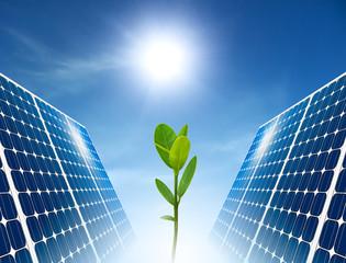 Concept of solar panel. Green energy.