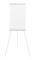 blank flipchart isolated on white background