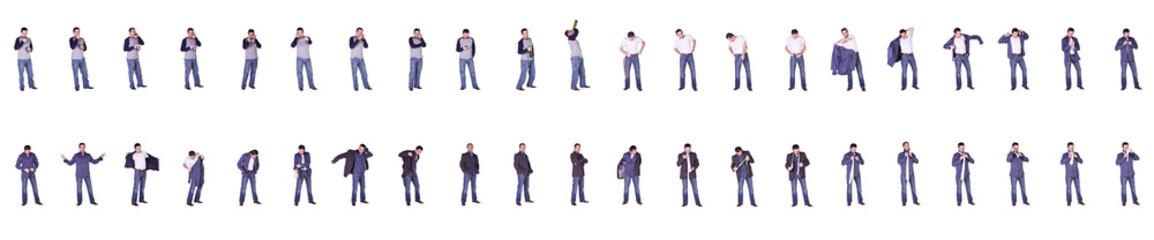 Multiple Images of Businessman