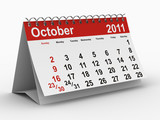2011 year calendar. October poster