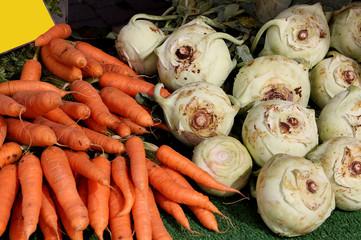 Karotten und Kohlrabi