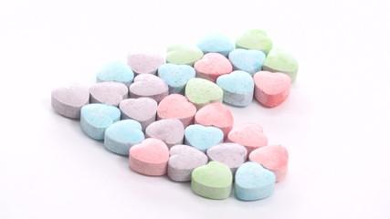 Sweetheart candy seamless loop - HD