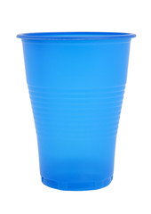 Blue disposable glass