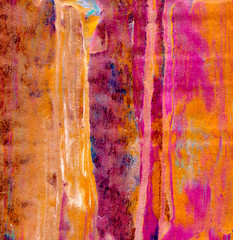 Abstract acrylic hand painted background