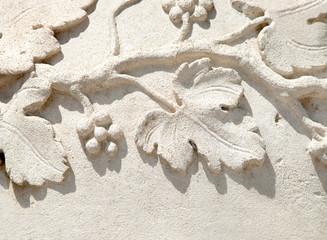grapevine bas-relief