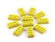 Sun from plastic toy blocks.