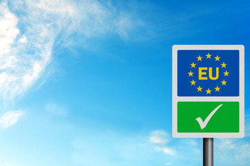 Political issues series: 'Yes to the EU' concept, with EU letter