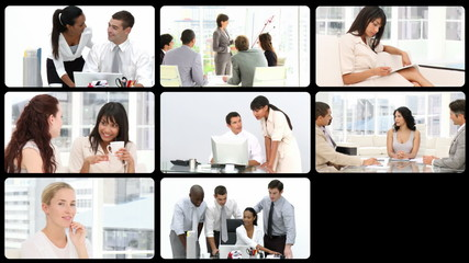Stock animation of presenting the concept of business team