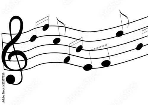 Ilustración: Pentagrama musical