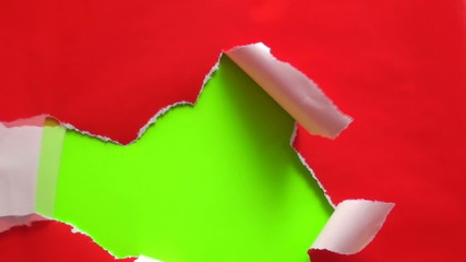 Unwrapping gift to reveal green screen V1 - HD