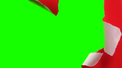 Unwrapping gift to reveal green screen V3 - HD
