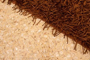 tappeto e pavimento