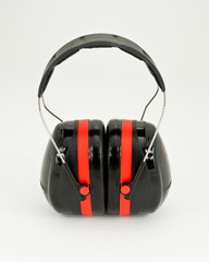 Hearing protection earmuffs.