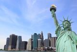 Fototapety Manhattan Skyline and the Statue of Liberty , New York City