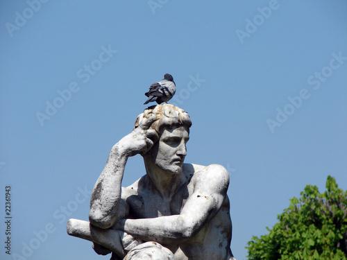 Papiers peints Statue Pigeon penseur