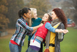 Group Of Female Teenagers Bullying Girl poster