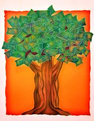 Albero dei soldi - illustrazione
